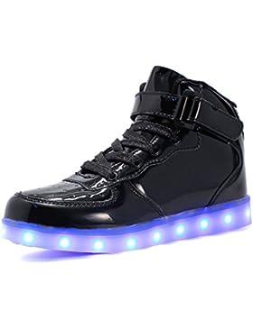 [Gesponsert]Bevoker Leucht Schuhe Kinder High Top LED Turnschuhe Blinkschuhe für Mädchen Jungen Unisex