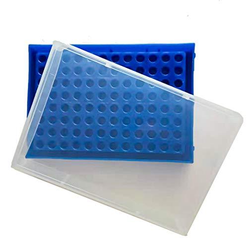 PCR Tube Rack für 0,2ml Micro-Tubes, 8 x 12 Matrix, Blue-b, 1