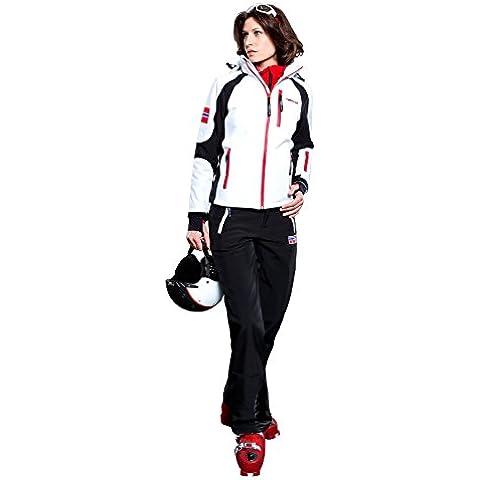 Nebulus Q653 Platinum Rockshell - Chaqueta de esquí para mujer blanco Negro y blanco Talla:medium
