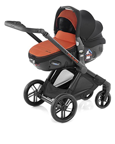 JANE  - COCHE DE PASEO DUO JANE MODULAR MUUM + MATRIX LIGHT 2 NEGRO/NARANJA