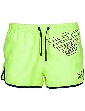 Emporio Armani EA7 bañador bermuda shorts hombre nuevo amarillo