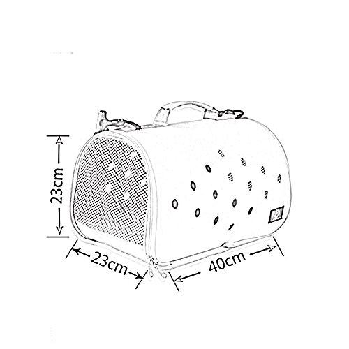 YIXIN Borsa obliqua dell'animale domestico / borsa impermeabile Oxford del tessuto blu / grigio scuro / colore rosa / marrone 40 * 23 * 23cm ( Colore : Grigio scuro ) Marrone