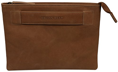 Brown Bear necessaire donna in pelle vintage camel, BB Sofia ca