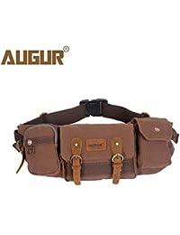 Buyworld Augur Men's Waist Pack Belt Bag Casual Canvas Male Multifunction Waist Bag For Men Fanny Pack Work Travel...