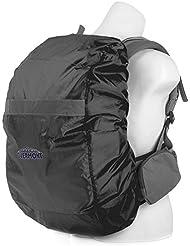 Overmont Cubierta impermeable protector de lluvia de mochila con cinta reflectante para el aire libre, viajes, paseos a caballo, escalada negro/naranja
