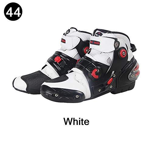 Katurn Luce Traspirante Stivali Moto Quattro Stagioni Scarpe da Ciclismo Road Racing Stivali Corti Stivali Passeggiate Scarpe (Dimensioni: 40-45)