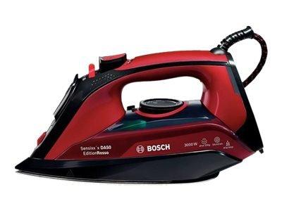 Bosch Sensixx`x DA50 EditionRosso TDA503011P - Dampfbügeleisen - CeraniumGlissée Grundplatte - 3000 W - Rot/Schwarz mit automatischer Abschaltung