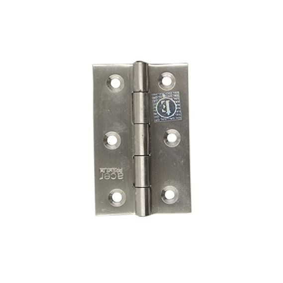 Acer Premium Stainless Steel Ball Bearing Door Hinge - 3 Inch (Silver, Polished, 1 Piece)