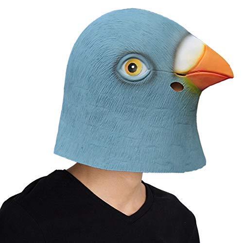 Finalshow Taub Maske Latex Tiermaske Kopf Kostüm Tauben Masken für Halloween Weihnachten Party Dekoration
