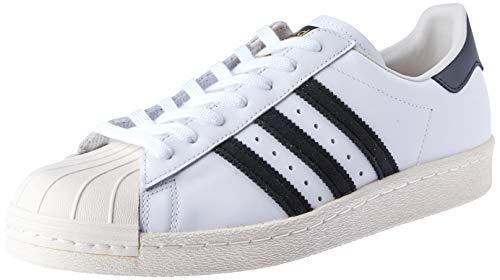 adidas Herren Superstar 80s Gymnastikschuhe, Elfenbein (White/Black 1/Chalk 2), 44 EU