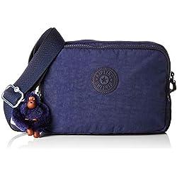 Kipling - Silen, Bolsos bandolera Mujer, Azul (Active Blue)