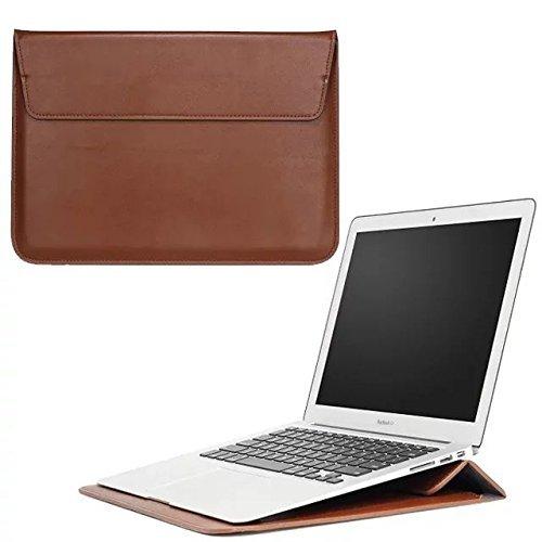 Kunstleder Zwei Innentaschen; Ständer, der Sleeve Cover für HP Pavilion x360/HP Stream 11/HP Chromebook 11,6/HP Spectre x2/HP Pavilion X230,5cm Laptop braun braun