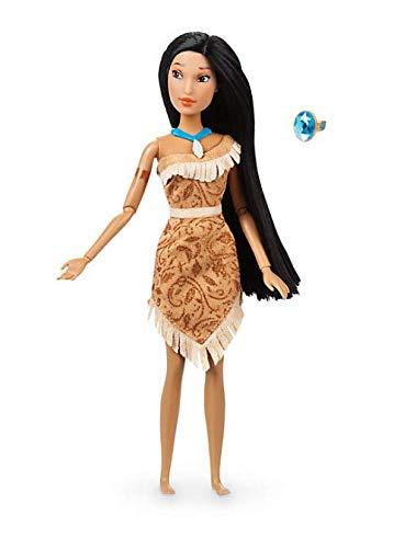 Muñeca clásica oficial Disney Pocahontas 30cm con anillo