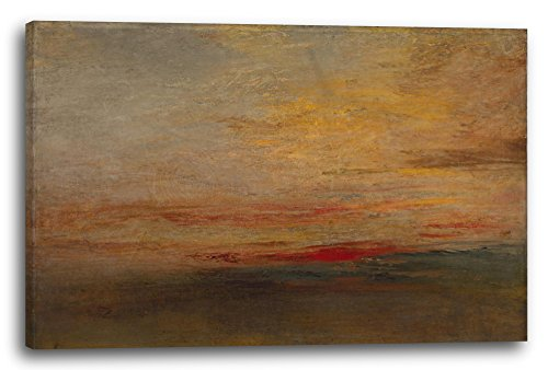Printed Paintings Leinwand (120x80cm): William Turner - Sunset