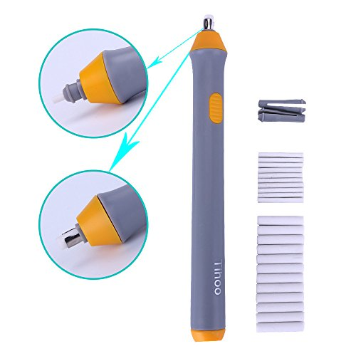Jisen Electric Eraser Battery Operated Pencil Eraser for Artist Drawing Painting Sketching Architectural Art Supplies Tool