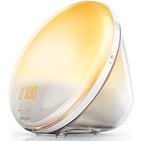 Philips HF3531/01 Wake-Up Light (Sonnenaufgangfunktion, Touchdisplay, 7 Wecktöne, digitales FM Radio, Tageslichtwecker) (Allen Wake)