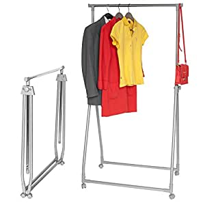 artmoon nils compact foldable clothes rail grey powder. Black Bedroom Furniture Sets. Home Design Ideas