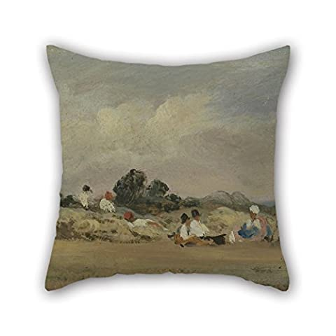 Bestseason Throw Pillow Case Of Oil Painting Frederick W. Watts - Haymakers Resting 20 X 20 Inches / 50 By 50 Cm,best Fit For Living Room,teens Boys,family,bar,lover,chair Twin Sides