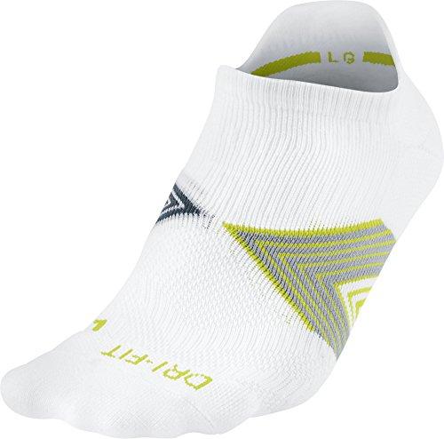 Nike No Show Socks Running Dri Fit Cushioned-Socken, Unisex, gepolstert L Multicolor (White/SQDRBL/STDMGY/SQDRBL) - Cushioned No-show-sport-socken