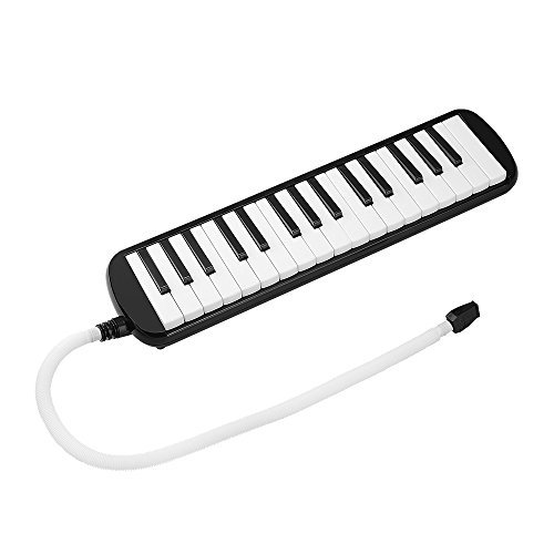 IRICH 32-Noten Klaviertastatur, Melodica mit Stabiler Tragetasche und Mundstück für Kinder Erwachsene Musikliebhaber und Anfänger Musik Geschenk (Schwarz)