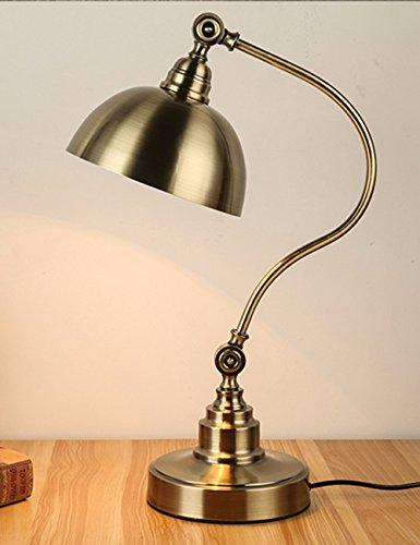 CJSHV-amerikanischen retro - kupfer - lampe, einfache zimmer mit lernen, lampe, dimmen studie, ländliche eisen, kontaktlinsen, europäischen stil lampe
