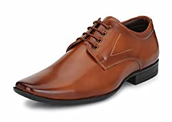 Mactree Men Tan Artificial Leather Lace Up Formal Shoes-6934-8