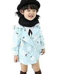 DELEY Pequeño de los Bebés de Flores de Primavera Chaqueta del Foso del Escudo Sudaderas Outwear