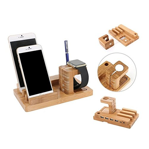 dax-hub-multi-device-usb-hub-power-charging-station-cell-phone-holder-wooden-docking-charger-station