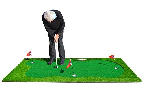 PGA Tour Unisexe Pebble Beach Golf Tapis de Putting intérieur/extérieur, vert, 4.9M x 9,8cm