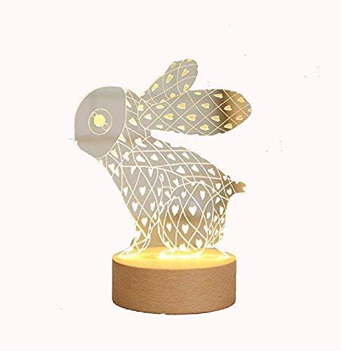 Illuminazione per la casa Bambola di coniglio La bambola ha condotto il giocattolo del coniglio della bambola della luce notturna per trasportare il regalo del coniglio