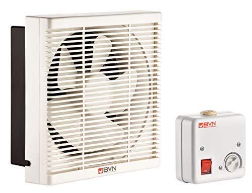 Ventilator Lüfter Be-Abluft Klappe Wand Fenster Absaugung Axial ø200mm 500m³/h inklusive Drehzahlregler