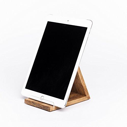 WOODS Tablet-Halter aus Holz iPad-Halterung Tablet iPad Eiche -