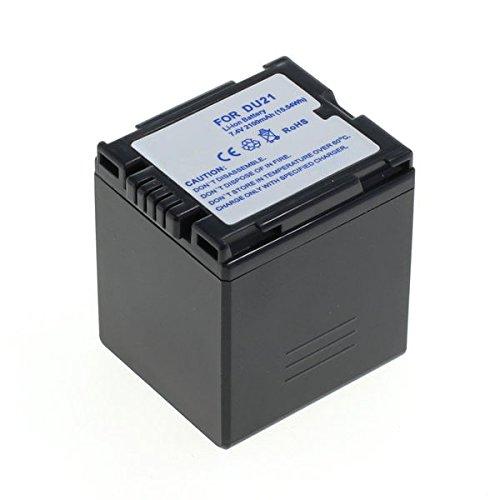 Cellonic® Qualitäts Akku kompatibel mit Panasonic NV-GS500 -GS320 -GS180 -GS230 -GS27 -GS400 -GS60 -GS75, PV-GS75, VDR-D160 (2100mAh) CGA-DU21 Ersatzakku Batterie