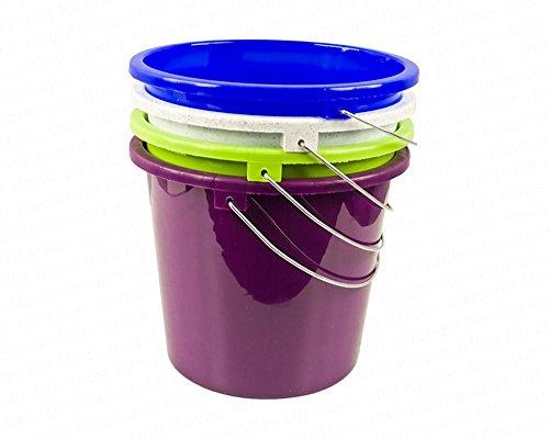mit Metallbügel, 5 Liter, farbig sortiert, Polypropylen, 1 Stück ()