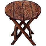 Hindoro Handicrafts Wooden Folding Table, Baby Table for Living Room Size- (LxBxH-12x12x12) Inch