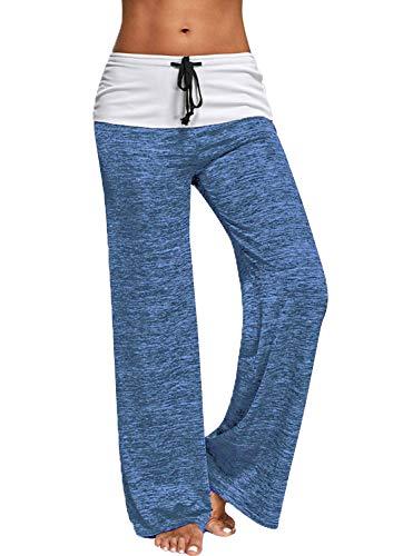 4cdd510e00 Pantaloni Larghi Donna Vita Alta con Coulisse Tinta Unita Baggy Hip Hop  Harem Danza Trousers Tuta Jumpsuit Boho Hippie Pantalone Lungo Estivo per  Yoga ...