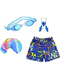b99b6ce7d3 Baby & Sons Swimming Kit with 1 Swimming Shorts | Costume | Trunk Swimming  1 Anti Fog Swimming Goggles 1 Silicone…