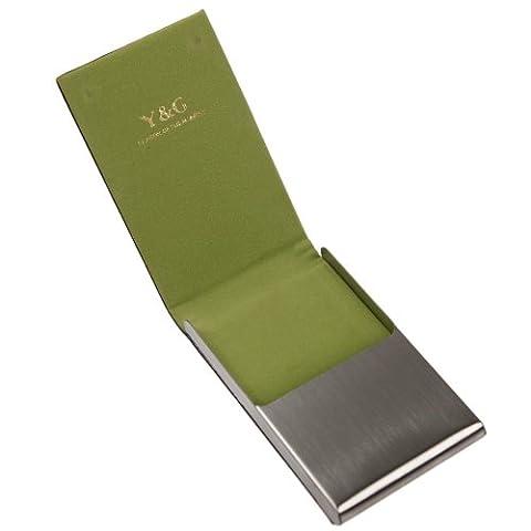 CC1020 Vert titulaire de la carte Noir Case-cartes en cuir par Y&G