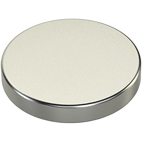 Ricoo - Imn de neodimio (30 x 5 mm, N45, hasta 80 kg), color plateado