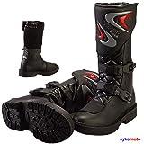 Viper Kinder K156 Leder Motocross Motorrad Sport Ratchets Schwarz Stiefel (36 EU/3 UK)