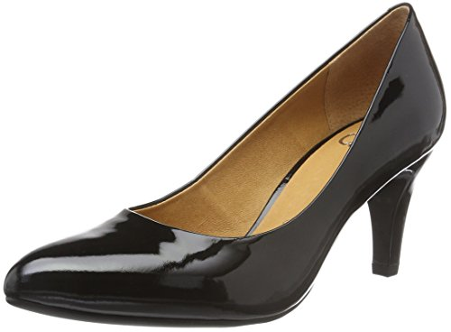 Caprice 22409, Escarpins Femme Noir (Black Patent 018)