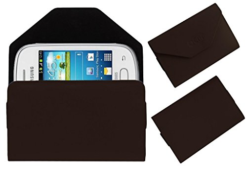 Acm Premium Pouch Case For Samsung Galaxy Star S5280 S5282 Flip Flap Cover Holder Brown  available at amazon for Rs.349
