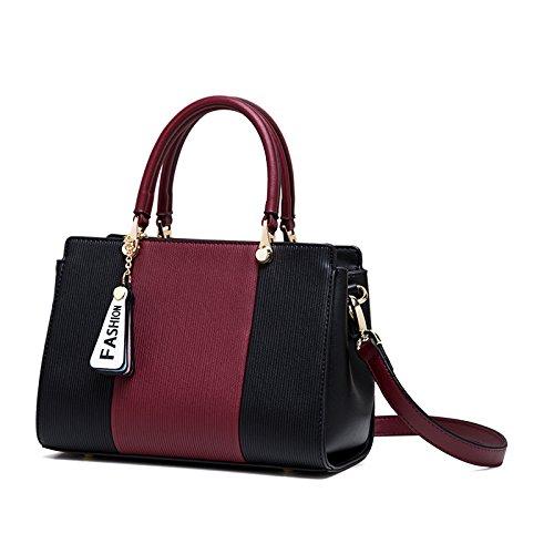 Nuova moda borse, borsette personalizzati Rosso + Nero