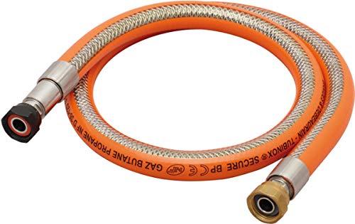 flexible gaz - inox secure - butane et propane - 1 mètre - banides et debeaurain 38953