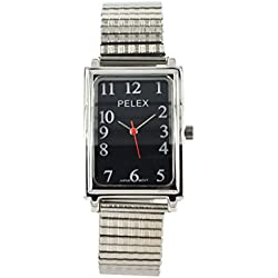 Men's / Ladies Unisex Big Expandable Strap Watch Stretchable Easy To Read