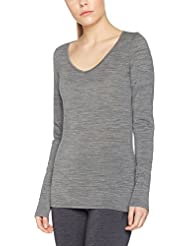 Icebreaker Siren T-Shirt Manches Longues Femme, Gritstone Heather, FR : M (Taille Fabricant : M)