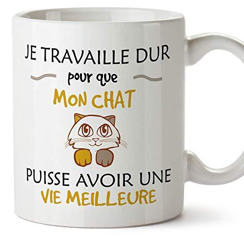 Le mug Je travaille pour que mon chat