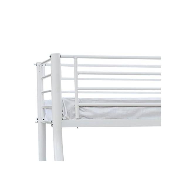 Stupendous Humza Amani Palmdale Metal Triple Sleeper Bunk Bed Single Double 201 X 145 X 154 Cm White Bralicious Painted Fabric Chair Ideas Braliciousco