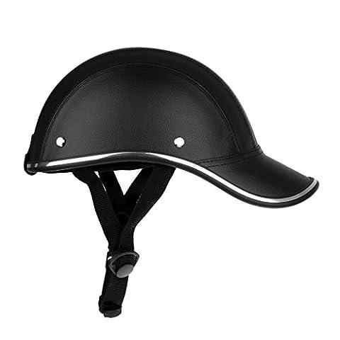 Gazechimp Casque de Vélo Moto Motif Casquette de Baseball Visière Anti-UV Solaire Protection Chapeau pour Hommes Femmes Sport - Noir, Unique