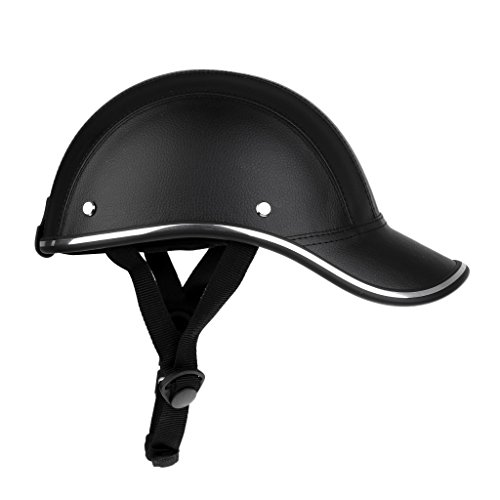 Homyl Ultra-leggero Ciclismo Casco Baseball Cap Cappello di Bici Moto Anti-UV Visiera - Nero